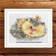Funny Cat Cross stitch pattern