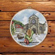 The City Of Attenberg Germany Travel  Round cross stitch pattern