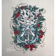 Gothic cross stitch pattern Dead Princess}