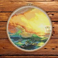 Ninth Wave cross stitch pattern