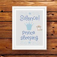Prince baby cross stitch pattern