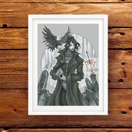 Gothic cross stitch pattern Raven by Iren Horrors