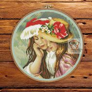 Two sisters by Renoir cross stitch pattern