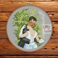 City dance by Renoir cross stitch pattern