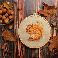 Squirrel Cross stitch pattern