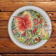Venus Flytrap cross stitch pattern flower}