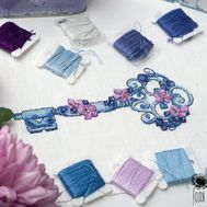 Key cross stitch pattern