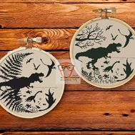 Dinosaurs Prehistoric world cross stitch two patterns