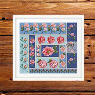 Roses Ornament cross stitch pattern