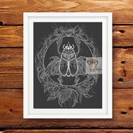 Scarab Blackwork cross stitch pattern