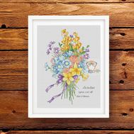 Flower Bouquet Free Cross Stitch Pattern