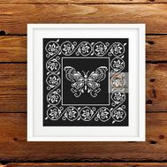 Lace Butterfly Ornament Free cross stitch pattern