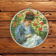Madame Monet by Camille Monet  cross stitch pattern