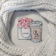 Chanel Flowers Free cross stitch pattern