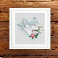 Wedding Dove free cross stitch pattern