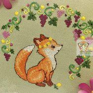 Fox and Grapes cross stitch pattern