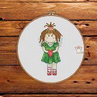 Little Angel Girl Free cross stitch pattern