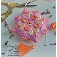 Pink Biscornu Embroidery pattern