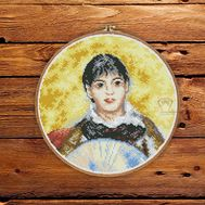 Girl with a Fan by Renoir cross stitch pattern