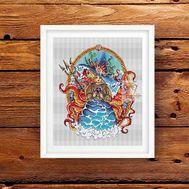 Sea Witch cross stitch pattern
