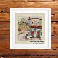 Summer Street Cafe #2 Cross Stitch pattern