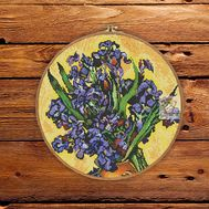 Van Gogh Irises round cross stitch pattern