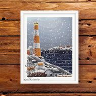 Winter Lighthouse Cross stitch pattern