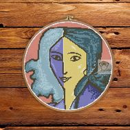 Henry Matisse Woman Portrait cross stitch pattern