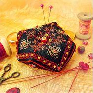 Crimson Autumn biscornu Embroidery pattern
