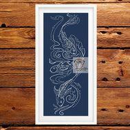 Fish cross cross stitch pattern