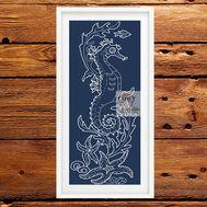 Sea Horse cross cross stitch pattern