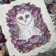 Barn Owl Nature cross stitch pattern