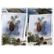 Fir cones cross stitch pattern