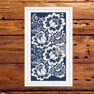Flower Lace Ornament free cross stitch pattern