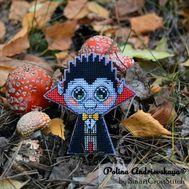 Mister Dracula cross stitch pattern