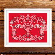 Love Sampler Cross Stitch Pattern