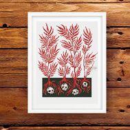Skull Trees Funny cross stitch pattern