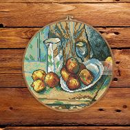 Still Life with Apples by Paul Cezanne cross stitch pattern