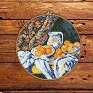 Still Life by Paul Cezanne cross stitch pattern