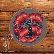 Poppy Spirit cross stitch pattern