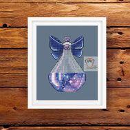 Space Magic Bottle #2 cross stitch chart