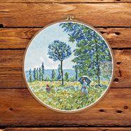Sunlight under the Poplars by Claude Monet cross stitch patternSunlight under the Poplars by Claude Monet cross stitch pattern