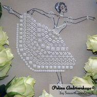 White Ballerina cross stitch pattern