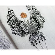 Black Swan Ballerina cross stitch pattern