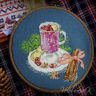 Mulled wine cross stitch pattern