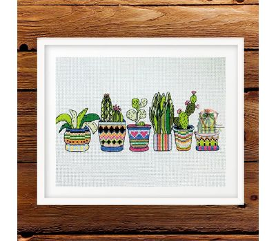 Free Cross Stitch Pattern Cactuses
