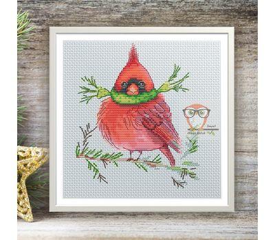 Xmas cross Stitch pattern Red Cardinal