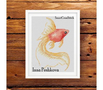 Free Golden Fish cross stitch pattern picture