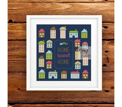 Free Cross Stitch pattern ''Home Sweet Home""