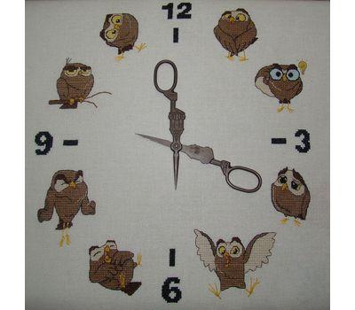 It's Owl time funny cross stitch pattern